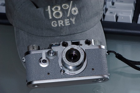 Grey Cap And Grey Leica IIIf