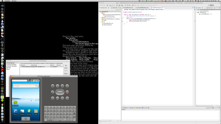 Eclipse and Android Simulator Running