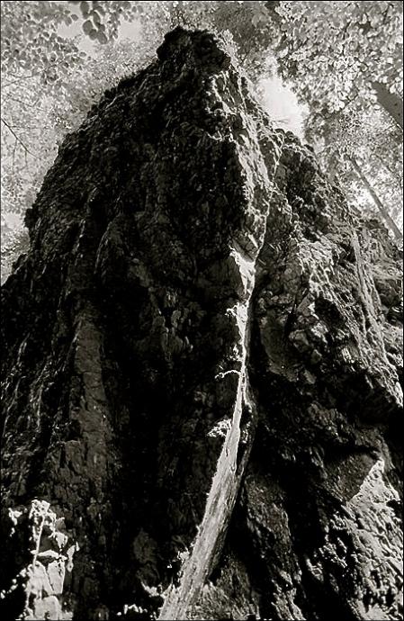 Overhanging Climbing Rock, Lauchagrund