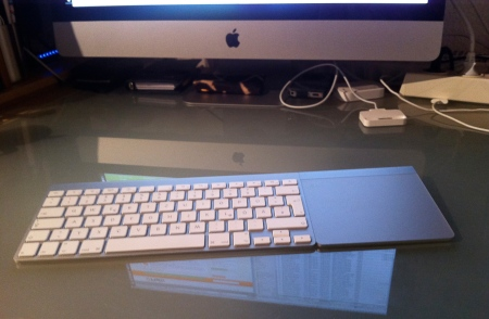 Diminutive Wireless Keyboard plus Tragic MacPad