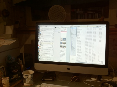 My Desk at Night, iOS 4.1 in-camera HDR