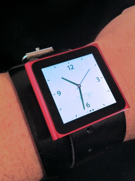 2010 iPod nano as a Wristwatch