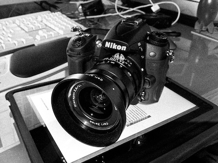 Nikon attached to Zeiss