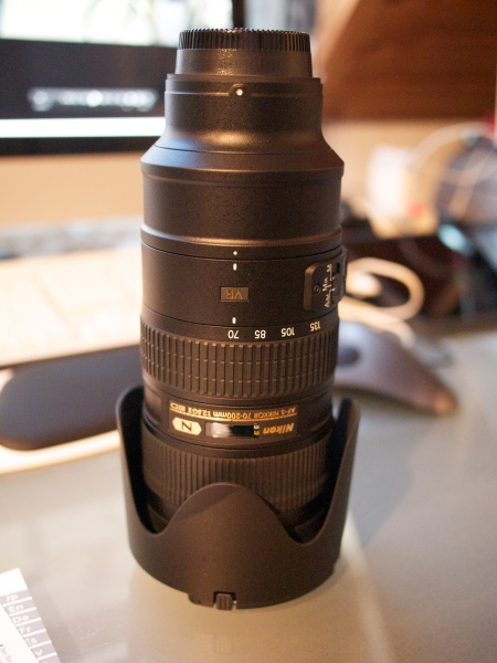 Physically, the Nikkor 70-200mm f/2.8G ED AF-S VR II is one impressive lens!