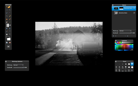 Full-screen mode, layers and layer masks, support for 16-bit grayscale TIFFs: all one could wish for!