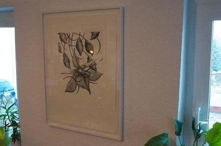 Once on the Wall, the Materiality of the Print remains Visible.