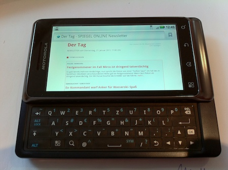 It certainly feels less cramped than the HTC Legend I had before