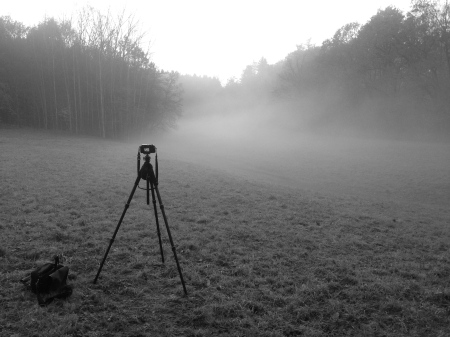 Here's the kit deployed to photograph the foggy/sunny scene in the lead photograph