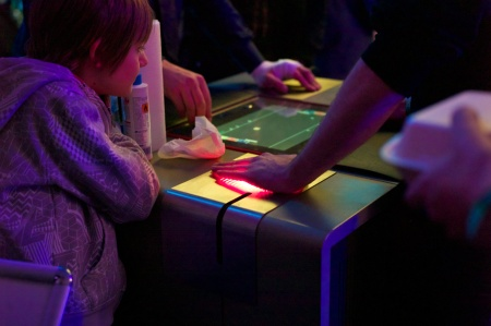 It's not just a Gametable, it's The Painstation! Loose at Pong and your hand gets grilled, slapped and pierced.