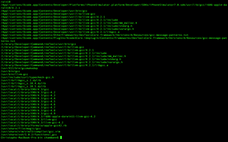 Checking up on gcc in a full-screen terminal. Nerdy enough for ya?