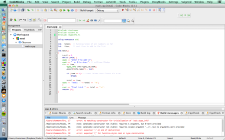 Here it is , running. The code does not compile.
