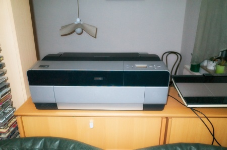 The Epson Stylus Photo 3880 and the 80-ties Bang & Olufsen stereo  seem to be design cousins