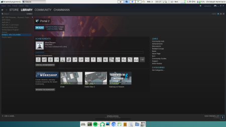 The Steam game portal downloading the game Portal 2. Ahem...