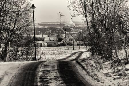 Two windmills