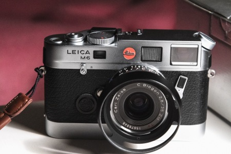 I get nostalgic for old film cameras.